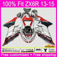 ingrosso zx per la vendita-Iniezione per KAWASAKI NINJA ZX 6R ZX-636 ZX 6 R ZX6R 13 14 15 16 53HM.4 Rosso Bianco Vendita ZX 636 600CC ZX636 ZX-6 ZX-6R 2013 2014 2015 2016 Carenatura