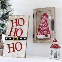 áreas de iluminação venda por atacado-Chapéu do Natal Xmas Decoração criativa tapeçaria enfeites Personalidade Carta padrão de iluminação área de trabalho de madeira