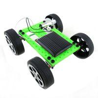diy güneş araç kiti toptan satış-Mini El Yapımı Güneş Enerjili Oyuncak Çocuk Eğitim Gadget Hobi DIY Araç Kiti