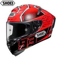 capacete integral preto vermelho venda por atacado-Shoei X14 93 Marquez Red Ant CAPACETE preto fosco completa face do capacete da motocicleta off road racing CAPACETE Capacete-NOT-ORIGINAL