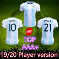 joueur achat en gros de-TOP 2019 Argentine Version de joueur Soccer Cop America 2020 Adulte MESSI DYBALA HIGUAIN ICARDI Camisetas de futbol football Maillot