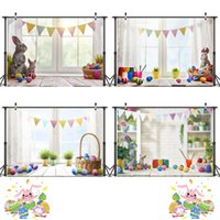 Wholesale easter photography backgrounds resale online - Easter Photography Cloth Easter Theme Party Photography Background Cloth m D Easter Rabbit Vinyl Photo Cloth