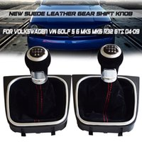 Wholesale volkswagen golf gti for sale - Group buy Car Styling Suede Leather Speed Gear Shift Knob Gaiter Boot For Volkswagen VW Golf MK5 MK6 R32 GTI