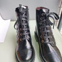 botas de piel de zorro de cuero nobuck al por mayor-cierre zapatos botas zapatos de moda Martin botas de estilo europeo de lujo zapatos del diseñador de moda las botas de los wome decoración de la perla con lether