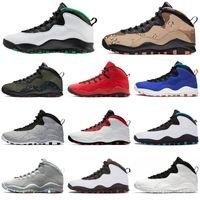 atletik ayakkabılar camo toptan satış-Nike air jordan retro 2020 Seattle 10 10 s erkekler basketbol ayakkabı Woodland Camo Tinker Çöl Camo Westbrook chicago Serin gri Atletik erkek eğitmenler spor sneakers