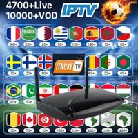 tv polonês venda por atacado-Android TV Box R2 com 1 ano de ITNOKETV Francês Bélgica Holandês Espanhol Polaco Paquistão albaneses Canais IPTV Árabe Código VOD