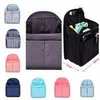 Wholesale bag organizer for sale - 9 Colors Dual Bag In Bag Women Insert Handbag Organizer Purse Makeup Case Storage Liner Bag Tidy Travel Insert Storage Bags CCA11423