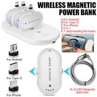 iphone taşınabilir güç kaynağı toptan satış-Taşınabilir Kablosuz Manyetik Cep Telefonu Mobil Güç Kaynağı Mini Parmak Acil Güç Bankası
