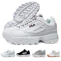 zapatillas gruesas al por mayor-2019 Disruptores 2.0 X Raf Simons zapatillas de deporte unisex 2019 Big Sawtooth Calzado casual Calzado deportivo en blanco y negro Zapatillas de running