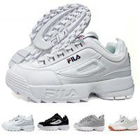 ingrosso grandi scarpe da corsa-2019 Disruptori 2.0 X Raf Simons Sneakers da ginnastica unisex 2019 Big Sawtooth Scarpe casual Sport Fondo spesso Bianco Rosa Scarpe da corsa di moda