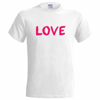 Wholesale black white paintings love for sale - Group buy Painted Love Design MENS T SHIRT peace art partner girlfriend boyfrieind freedom