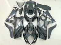 etiketli etiket kitleri toptan satış-4 Hediyeler Yeni Stil ABS Sıkıştırma Kalıp Motosiklet Kalafatlama Fit For Suzuki GSXR-1000 K7 2007 2008 07 08 Kaporta, kaporta Kiti Özel Siyah set