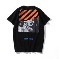 mochilas de basquete de moda feminina venda por atacado-C558, 2019 nova manga curta, carta impressão, gola redonda camiseta, casal mangas curtas. Europa e América, Monroe, as ruas.