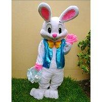 trajes do epe venda por atacado-Em estoque, Easter Bunny Mascot Costume EPE Fantasia Vestido Rabbit Outfit Adulto Tamanho