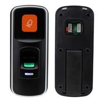 Wholesale rfid card reader door lock resale online - RFID Fingerprint Lock Access Control Reader Biometric Access Controller Door Opener Support SD Card