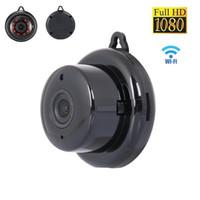 moniteur de sécurité vidéo infrarouge achat en gros de-Sécurité à la maison MINI WIFI 1080P Caméra IP Sans fil Petite caméra de vidéosurveillance Vision nocturne infrarouge Enregistreur vidéo Motion Monitor Baby Monitor