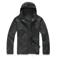 Wholesale anti uv jacket for sale - Unisex Rain Jacket Outdoor Casual Hoodies Windproof Waterproof Sunscreen Face hooded Coats Skin Anti UV Raincoats colors GGA1587