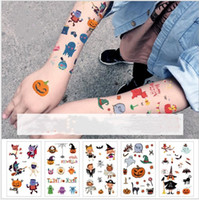 Wholesale girl kid birthday party supplies for sale - Group buy Halloween Temporary Tattoo Removable Pumpkin Tattoo Body Sticker PVC Birthday Decoration Party Favors Supplies Kids Boys Girls Toys Style