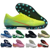 chaussures de course superfly achat en gros de-2020 nouvelles chaussures de course en plein air Nouveau Couleur faible Mercurial Superfly VII 360 Elite FG Chaussures de soccer Hommes LVL UP chaussure de football CR7 Sport Sneakers