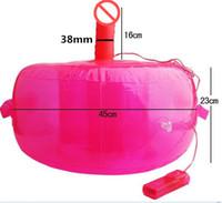 ingrosso vagina gonfiabile per il sesso-Mobili sesso con dildo vibratore palla gonfiabile poltrona da solo gioco masturbazione pene vagina massaggiatore prodotti adulti giocattoli per le donne