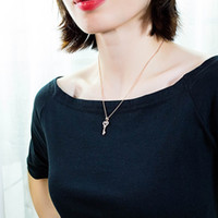 Wholesale long chain choker necklace for sale - Group buy Women Charm Long k Gold Key Pendant Necklace Chains Jewelry New Fashion Crystal Rhinestone Design Love Heart Pendant Necklaces for Women