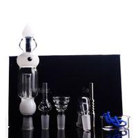 bols à pipe en titane achat en gros de-Verre Fumer De L'eau Pipe Titane Nail Miel Cire De Paille Verre De L'eau Bongs