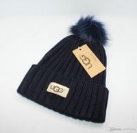 en iyi örme şapkalar toptan satış-Sıcak Moda 6 Renk Klasik dar Örme Kazak Artı Topu Şapka kadın Sıcak Şapka En Kaliteli Headdress