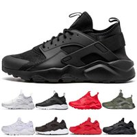 Wholesale summer sports shoes men for sale - Group buy New Huarache triple black white Running Shoes men women designer Huaraches Red Gold green Grey Trainers Sport Sneakers Shoe Size