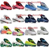 Wholesale breathable outdoor shoes resale online - 2020 mens boys soccer cleats Superfly Elite SE FG football boots cr7 neymar soccer shoes women children Mercurial Vp size