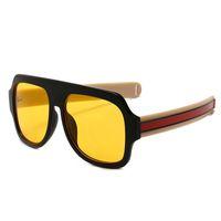 ingrosso grandi occhiali alla moda-Grandi occhiali da sole oversize Uomo Donna Giallo Occhiali da sole uomo per uomo Donna Retro occhiali da sole in plastica Rosa Occhiali da sole trendy Oculos # 1813