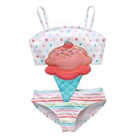 bonitos trajes de natação meninas venda por atacado-Ew 2019 sorvete bonito Crianças Swimwear One-piece Meninas Maiô Crianças Ternos de Natação Meninas Biquíni Crianças Trajes de Banho Conjuntos de Criança Beachwear A4369