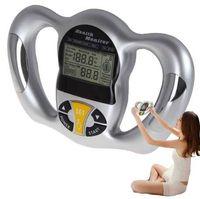 analyseur de main achat en gros de-Balance digitale LCD Compteur de graisse corporelle Moniteur de santé slim Analyseur de graisse Mesurer la balance de masse Indice de masse IMC Indicateur de poche