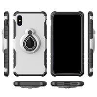 ingrosso mela anello-Nuovi 2 in 1 cassa dell'armatura magnetica per il nuovo iPhone 6 7 8 più x xr xs max iphone 11 pro max per caso dell'anello auto Kickstand samsung antiurto