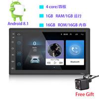 автомобильный wifi сенсорный экран оптовых-7 дюймов двойной DIN 12 В автомобильный DVD Android 8.1 аудио и видео плеер HD емкостный сенсорный экран 1080P видео GPS 1GB RAM WIFI 4G зеркало ссылка