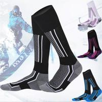 Wholesale free football towel resale online - None Women Man Winter Ski Snow Sports Socks Thermal Long Ski Snow Walking Hiking Sports Towel Socks free size