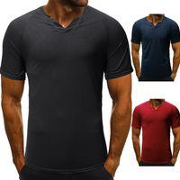 b5f85957d Summer Fashion Designer T-Shirts V Neck Short Sleeve Men Casual Hip Hop T-shirts  Plus Size M-2XL