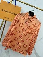 модные платья оптовых-Парижский показ мод дебютное шоу женской модной одежды дизайнер блузки импортного шелка секции удобные гладкие логотип красивые рубашки с принтом