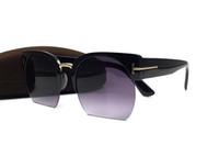 güneş gözlüğü yarım kedi toptan satış-Lüks qualtiy Adam Kadın Için Yeni Moda TF Kedi Göz Tom Güneş Gözlüğü Gözlük Marka Tasarımcısı Yarım Çerçeveleri Ile Güneş Gözlükleri kutusu