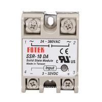 module de relais unique achat en gros de-10 pcs SSR-10DA FOTEK Module de relais à semi-conducteurs monophasés 10A CC de contrôle AC SSR10DA