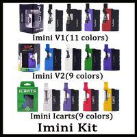 las baterías encajan v2 al por mayor-Kit de icarts Imini V1 V2 100% original con cartuchos de 0,5 / 1,0 ml Precalentamiento de la batería Mod Fit Cartucho Liberty Vs Vmod Palm