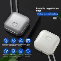 Personal Wearable Air Purifier Necklace Mini Portable Air Freshner Ionizer Negative Ion Generator Odor Eliminator Remove Smoke
