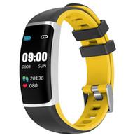 çoklu ekranlı telefon toptan satış-Yeni Y7S renkli ekran akıllı İzle kalp hızı kan basıncı kan oksijen uyku algılama akıllı bilgi itme çoklu spor