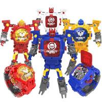 фигурки для продажи оптовых-Горячие фигурки продажи игрушек деформации часы робот электронный дисплей творческая игрушка деформации конг дети деформации часы