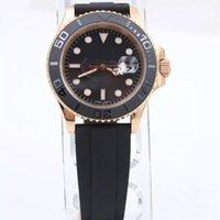 relógios de esporte venda por atacado-2018 Moda rosa de ouro de Borracha Moda Master 40mm Cerâmica Bezel Mens Watch 116655 Homens Esportes Relógios Automáticos frete grátis
