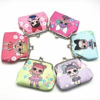 monederos para niños al por mayor-LOL doll Girls Wallet Kids lol dolls Cartoon Party Coin Purse mejor regalo