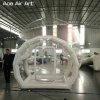 Wholesale transparent inflatable bubble tent resale online - Inflatable transparent bubble tent with tunnel for camping High quality outdoor tarvel lightweight clear dome tent