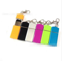 Wholesale keychain cigarette holder resale online - Colorful Pocket Ashtray With Keychain Round Square Cigarette Smoking Ash Tray Holder Storage Tool Styles For Home Office Use Convenient