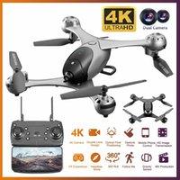 drones quadcopters venda por atacado-4K HD Camera Drone com câmera HD Optical Fluxo de Posicionamento Quadrocopter Altitude Reter FPV Quadrotor RC T191016 helicóptero