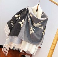 Wholesale women stoles for sale - Group buy Luxury Winter Scarf for Women Brand Designers Cashmere Brand Mens Scarf Fashion Women Colorful Letter Designers p018