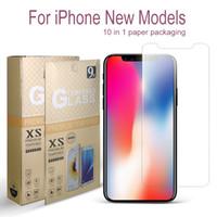 пакеты оптовых-Для нового iPhone 11 X XR XS Макс Закаленное стекло экрана протектор для iPhone 7 8 Plus LG Stylo 5 MOTO G7 Play Мощность 0.26mm 2.5D 9Н В пакете
